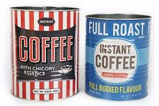 set of 2 retro vintage style coffee cans tea rooms VW camper split bay HY van