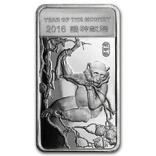 Year of the Monkey 2016 1/2 oz .999 Silver Bar