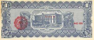 México / Chihuahua 1 Pesos 10.10.1915  Series  L/AC-XX  Uncirculated Banknote M2