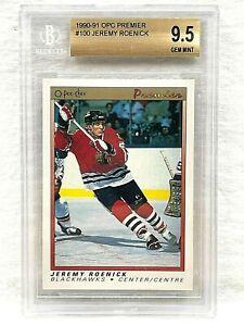 1990-91 OPC O PEE CHEE PREMIER 100 JEREMY ROENICK ROOKIE CARD BGS 9.5 GEM MINT