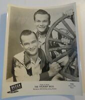 Rare Vintage THE WILBURN BROS Hand Signed AUTOGRAPH Country Western PHOTO