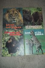 Lot of 4 National Wildlife Federation Books - Lions & Tigers, Elephants, Chimps