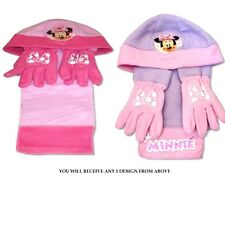 Disney Minnie Mouse 'miss Minnie' Assorted Hat Gloves and Scarf Kids Set