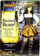 BUCCANEER BEAUTY HALLOWEEN COSTUME WOMEN'S LARGE 14-16 Pirate Wench L New I