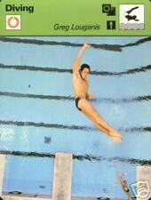GREG LOUGANIS GOLD MEDAL OLYMPIC DIVER 1977 FOCUS ON SPORTS CARD