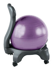 Gaiam Balance Ball Chair Body Balance Gym Exercise Fitness Workout Office PURPLE