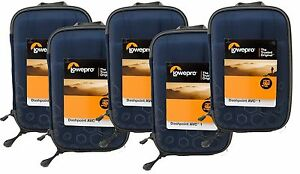 5 x Pack NEW Lowepro Dashpoint AVC 1 Hard Shell Case BLUE GoPro Action Video Cam