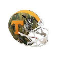 Peyton Manning Autographed Tennessee Camo Replica Full-Size Helmet - Fanatics