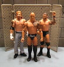 "WWF WWE Wrestling RANDY ORTON, THE ROCK & DALLAS 6"" action figure toy set"