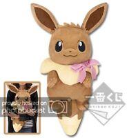 Banpresto Ichiban Kuji Pokemon EIEVUI Eevee & CRYSTAL DROPS B Plush F/S