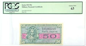Military Payment Certificate 50c 63 Choice New PCGS