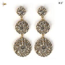 Bridal Wedding Prom Fashion Party Woman Crystal Rhinestone Chandelier Earrings