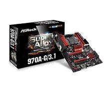 ASRock Motherboard ATX DDR3 2400 AM3 970A-G/3.1 New