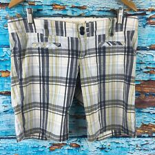 Hollister Plaid Shorts 7 Juniors