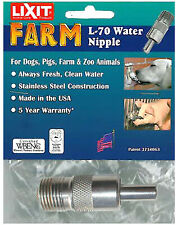 Farm Water Nipple Valve, Stainless Steel