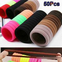 50x Women Girls Hair Band Ties Rope Ring Set Elastic Hairband Ponytail Holder