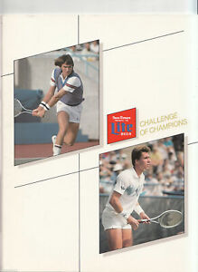 SIGNED Jimmy CONNORS Ivan LENDL & More Tennis 1984 Chicago Sun Times Program COA