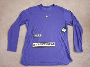 2016 NIKE Dri-FIT FOOTBALL RUNNIN TRAINING PURPLE LS SHIRT Sz XL 908356 549 $65
