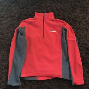 BERGHAUS Fleece Size Small Mens Red And Grey