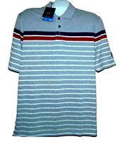 Paul&Shark Yachting AUTHENTIC Gray Stripes Men's Cotton Italy Polo T-Shirt Sz L