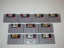 Super Nintendo Entertainment System 10 Game Lot Snes Madden 93 95 Tested Works