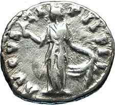 FAUSTINA II Jr  145AD Silver Authentic Ancient Roman Coin SPES HOPE i65698