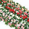 8Ft Artificial Silk Rose Flower Ivy Vine Garland Wedding 11 Flowers per String