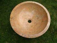 "16.5"" Modern Travertine Stone Vessel Sink Bowl Lavatory Basin"