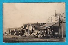 1909 MAXWELL NE Nebraska RPPC Photo Postcard STREET SCENE Horse Buggy - Merricks