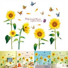 Newly Sunflower Kitchen Wall Sticker Window Home Decoration Decal Mural 60*90 Cm