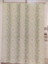NEW COASTAL COLLECTION SHELLS AQUA GREEN NAUTICAL FABRIC SHOWER CURTAIN