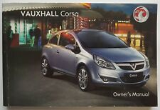 GENUINE VAUXHALL CORSA D 2006-2011 OWNERS MANUAL HANDBOOK