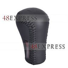Black Leather Black Stitch  Gear Shift Knob Shifter For TOYOTA TRD Manual