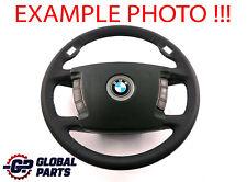 BMW 7 Series E65 NEW Black Leather Steering Wheel Black M Tricoloured Threads