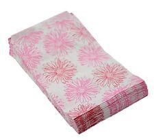 100 x Flower Print Paper Jewellery Gift Bags (5x7)