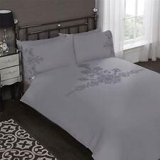 Blumen Bestickt Pailletten Weiß Baumwollmischung Super King Bettbezug Bettwaren, -wäsche & Matratzen