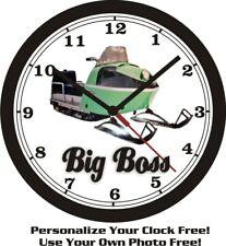 Big Boss Snowmobile Wall Clock-Free Usa Ship!-Polaris, Arctic Cat, Can Am
