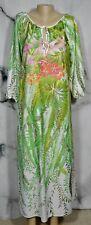 STERLING SOPHISTICATES Tropical Floral Vine Print Gown Caftan Muumuu Large