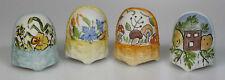 Fingerhut dedo sombreros Thimble set cuatro estaciones mano pintado lindner porcelana