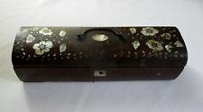 Vintage Wood Box Mother of Pearl Inlay Needs Repair