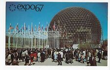Expo 67 Montreal Canada Pavilion of the United States Vintage Postcard