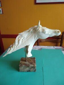 Tête de Cheval - Statue - Sculpture - TBE