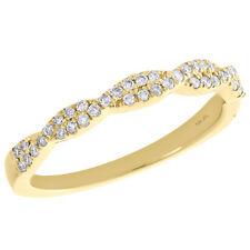 10K Yellow Gold Round Diamond Twist & Braided Ladies Right Hand Ring 0.25 Ct.