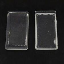 20pcs Rectangle Glass Cabochons Tile Seals Tray Pendant Covers X-GGLA-ZX001-1