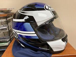 ARAI PROFILE Helmet XL Blue White with cover/bag FULL FACE