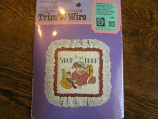 """Designs For Needle Trim 'N Wire SHOP 'TIL YA' DROP 4"""" Counted Cross Stitch Kit"""