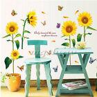 Sunflower Butterfly Flying Wall Sticker Mural Art Vinyl DIY Home Decor Decal PVC