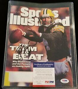 BRETT FAVRE Green Bay Packers Sports Illustrated NFL Football Autograph PSA/DNA