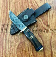 HNF CUSTOM HANDMADE DAMASCUS STEEL DAILY USE HUNTING SKINNER KNIFE - BW 142