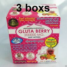 3BOX10pack GLUTA BERRY 200000 MG GLUTATHIONE DRINK PUNCH WHITENING  ANTI-AGING